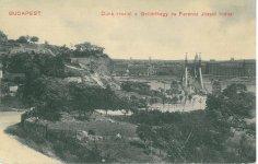 Duna részlet a Gellérthegy és Ferencz József híddal