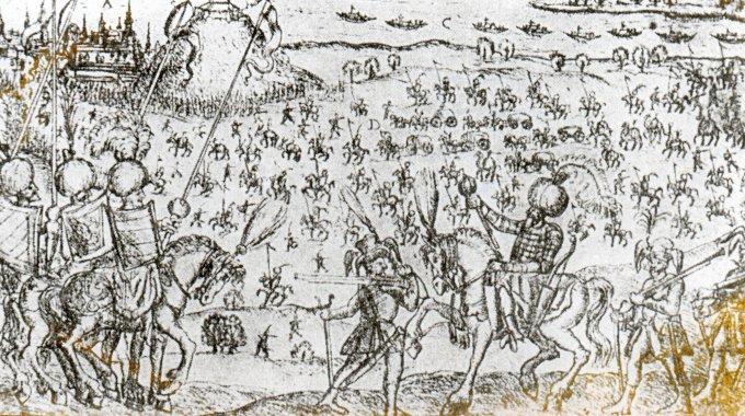 Törökök Buda ellen csatajelenet