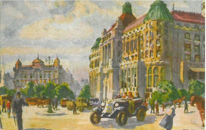 Gellért-tér a Gellért szállodával
