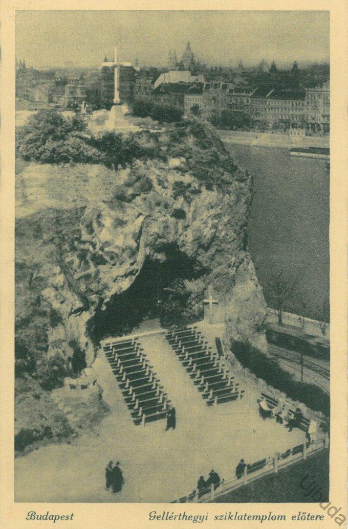 Gellérthegyi sziklatemplom előtere