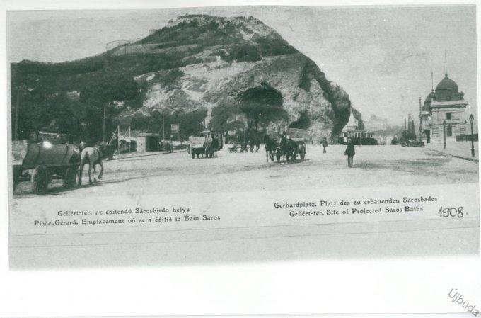 Gellért-tér, az építendő Sárosfürdő helye