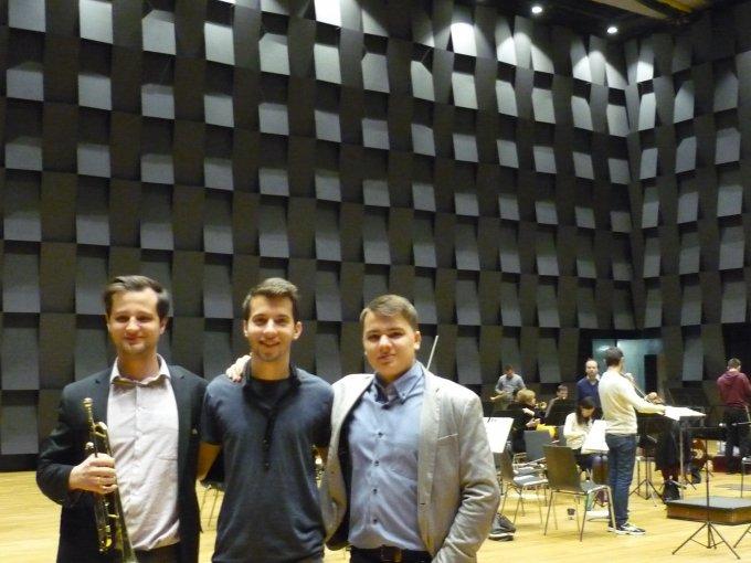A Weiner Szakközépiskola fúvósai a Talent koncerten (2015)