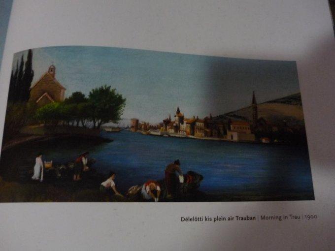Csontváry-Kosztka Tivadar festménye Trau városáról