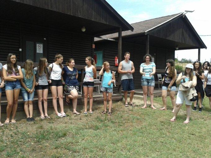Balatonakaliban táboroztak a partnervárosi gyerekek